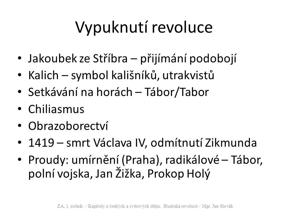 Vypuknutí revoluce Jakoubek ze Stříbra – přijímání podobojí