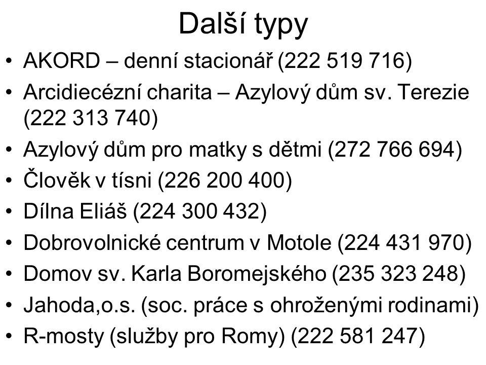 Další typy AKORD – denní stacionář (222 519 716)