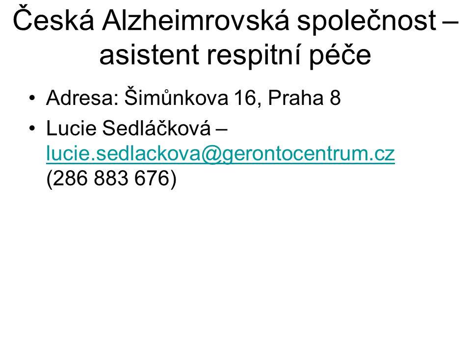Česká Alzheimrovská společnost – asistent respitní péče