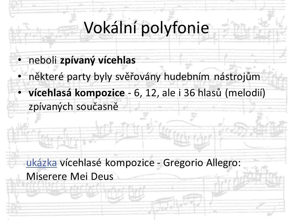 Vokální polyfonie neboli zpívaný vícehlas