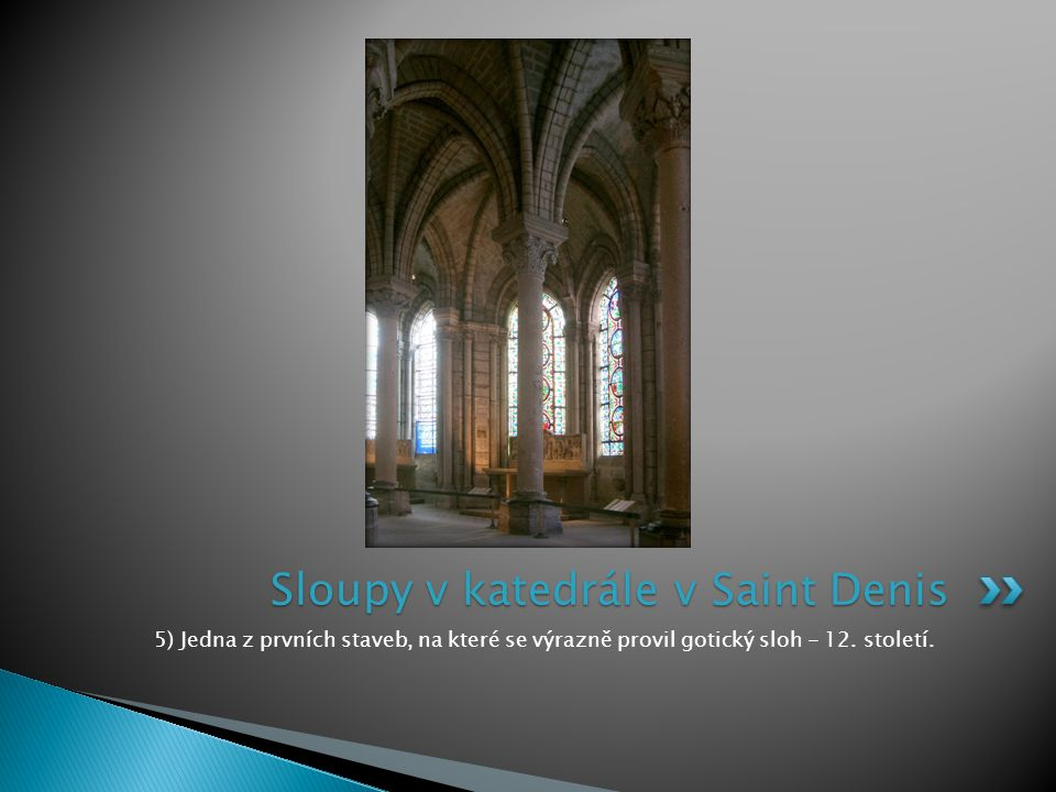 Sloupy v katedrále v Saint Denis