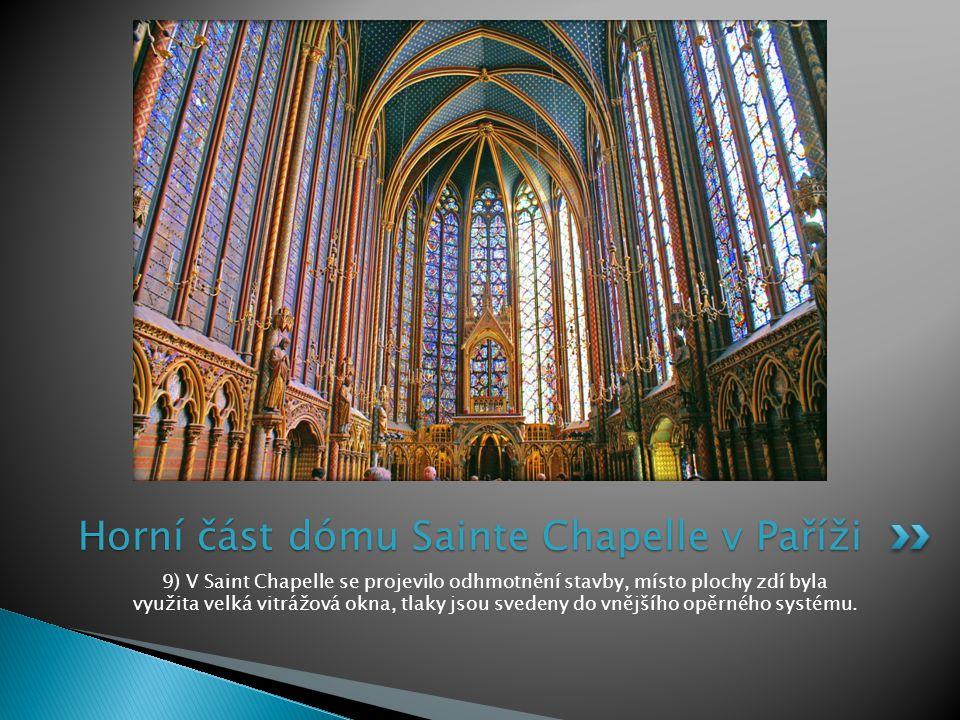 Horní část dómu Sainte Chapelle v Paříži