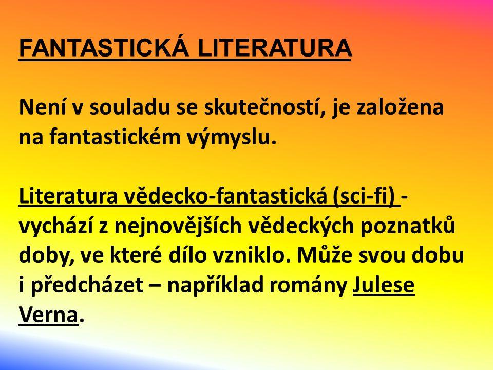 FANTASTICKÁ LITERATURA