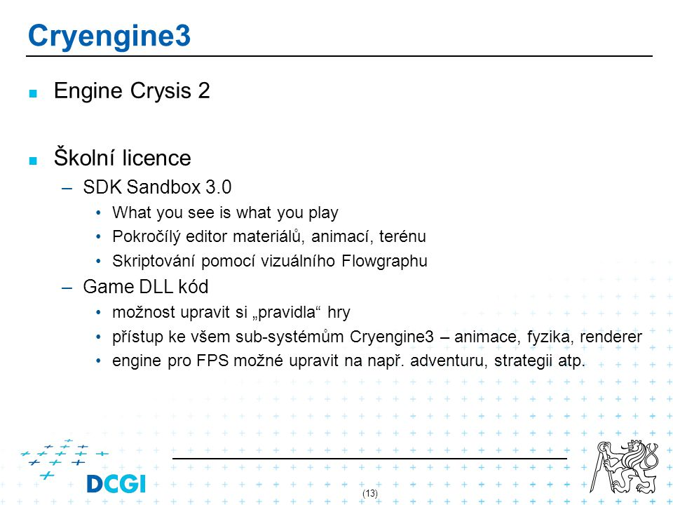 Cryengine3 Engine Crysis 2 Školní licence SDK Sandbox 3.0 Game DLL kód