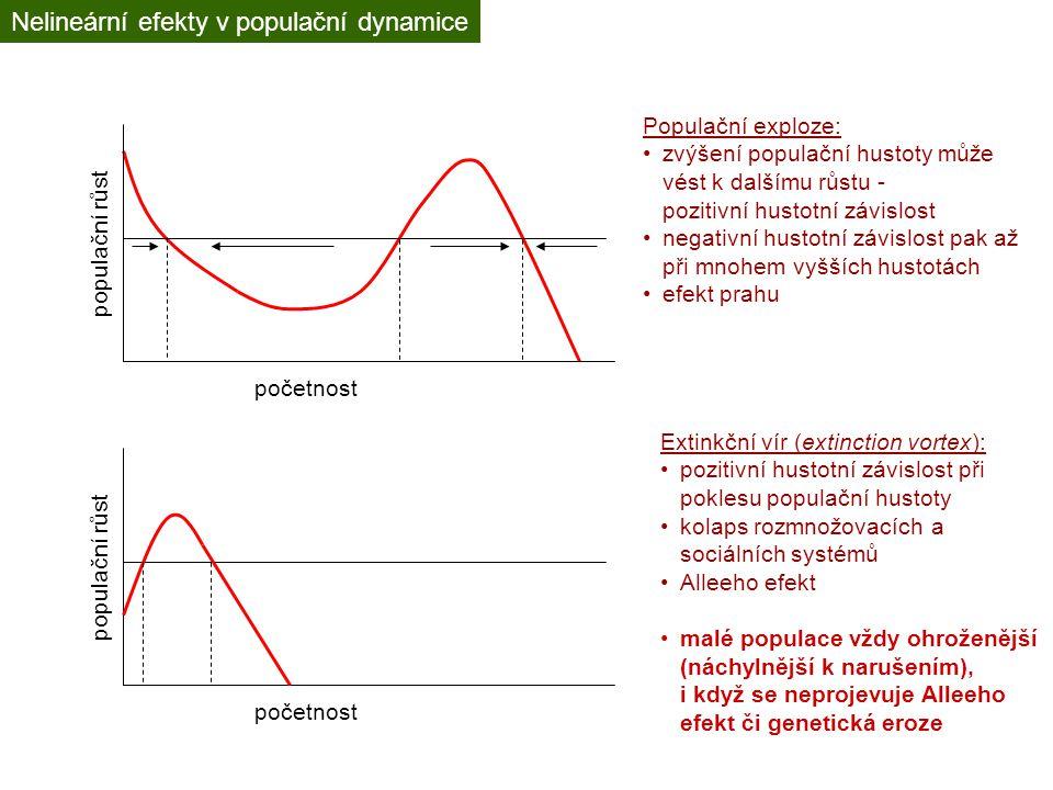 Nelineární efekty v populační dynamice