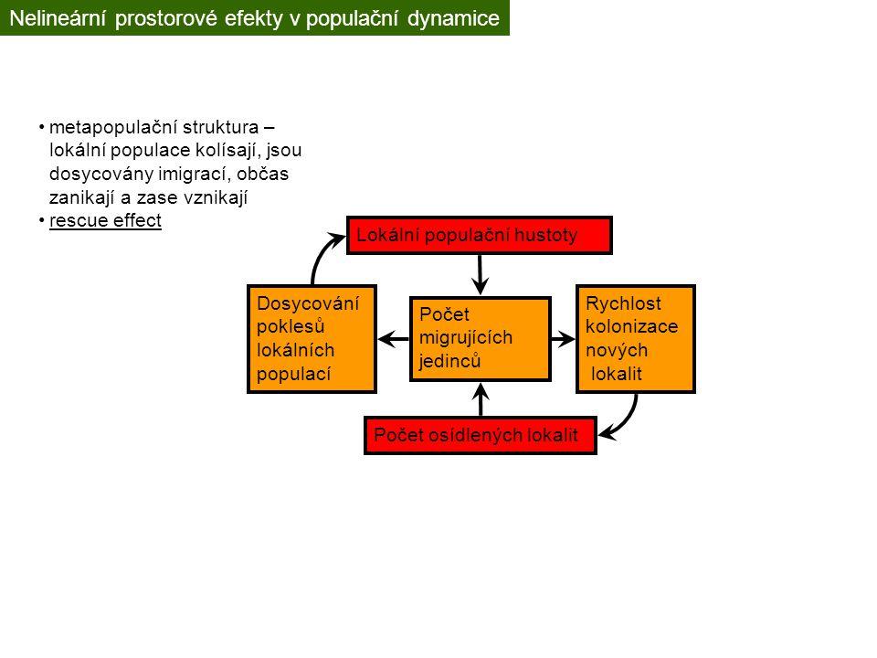 Nelineární prostorové efekty v populační dynamice