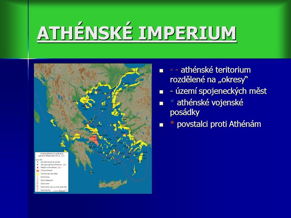"""ATHÉNSKÉ IMPERIUM - - athénské teritorium rozdělené na """"okresy"""