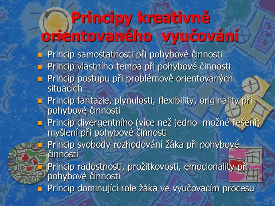Principy kreativně orientovaného vyučování