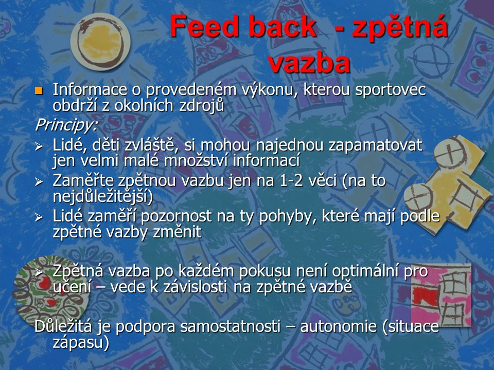Feed back - zpětná vazba