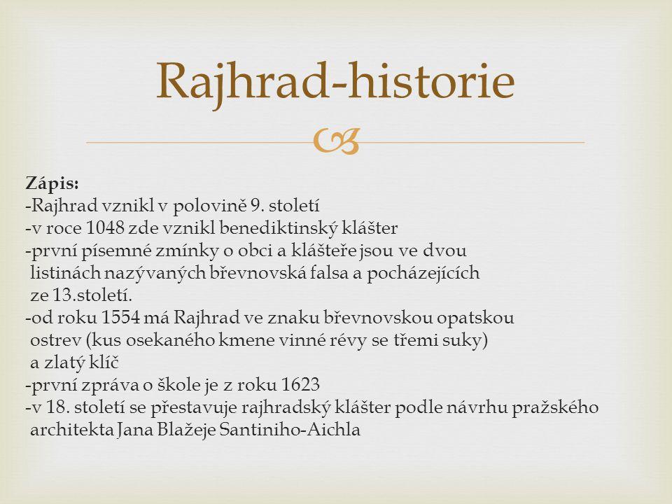 Rajhrad-historie