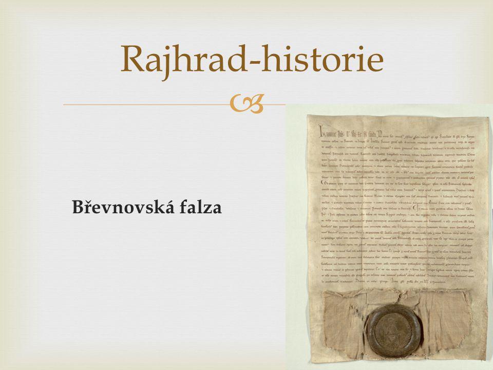 Rajhrad-historie Břevnovská falza