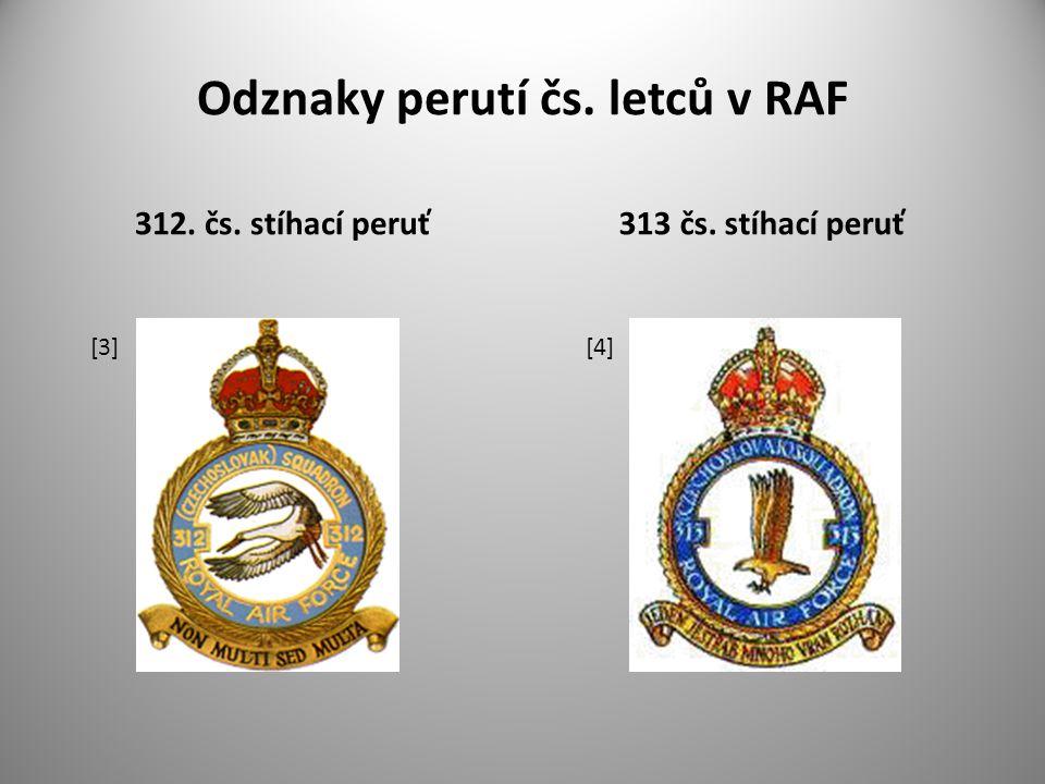 Odznaky perutí čs. letců v RAF
