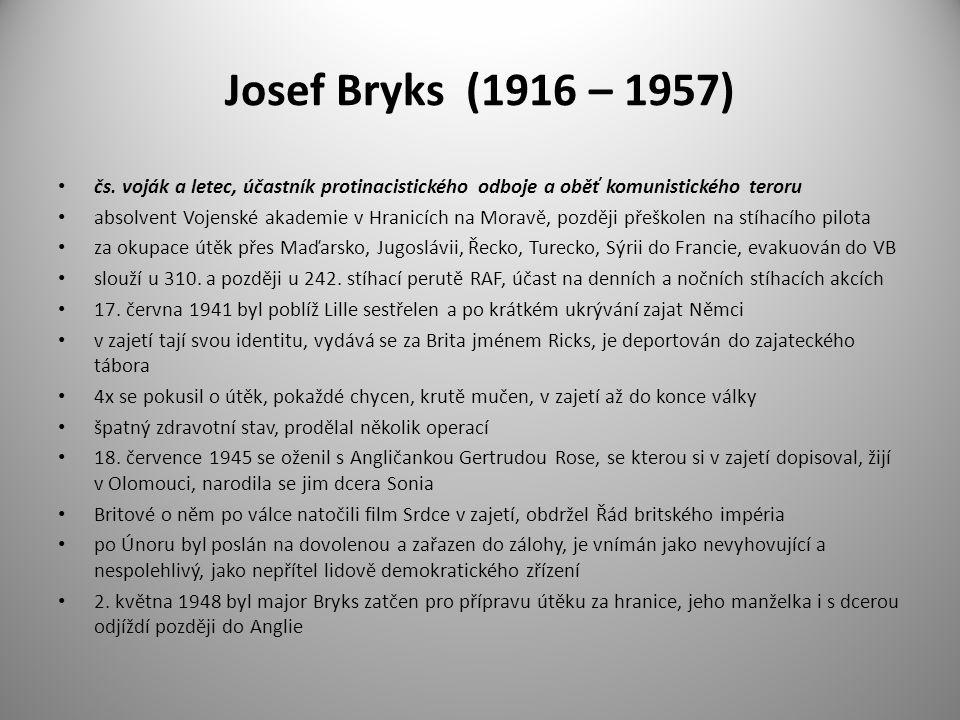 Josef Bryks (1916 – 1957) čs. voják a letec, účastník protinacistického odboje a oběť komunistického teroru.