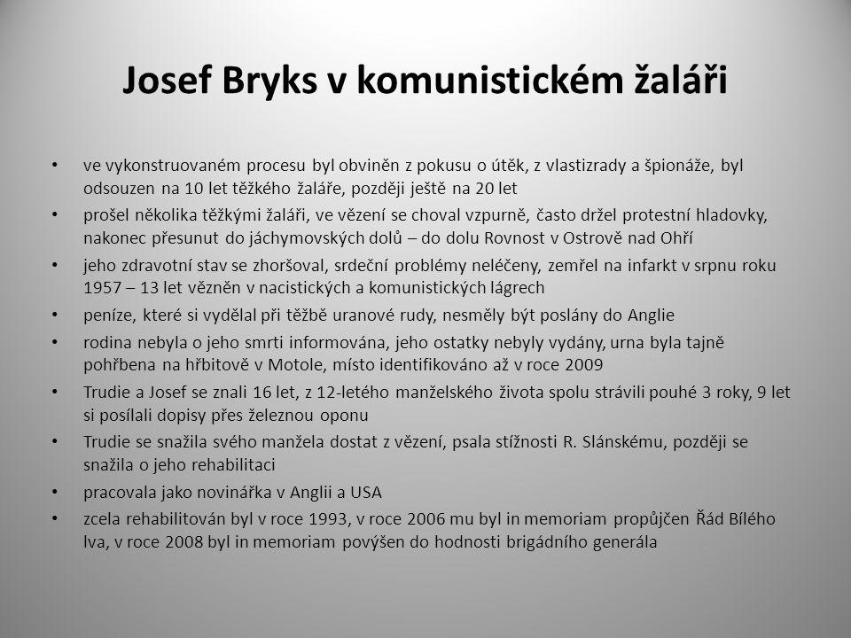 Josef Bryks v komunistickém žaláři