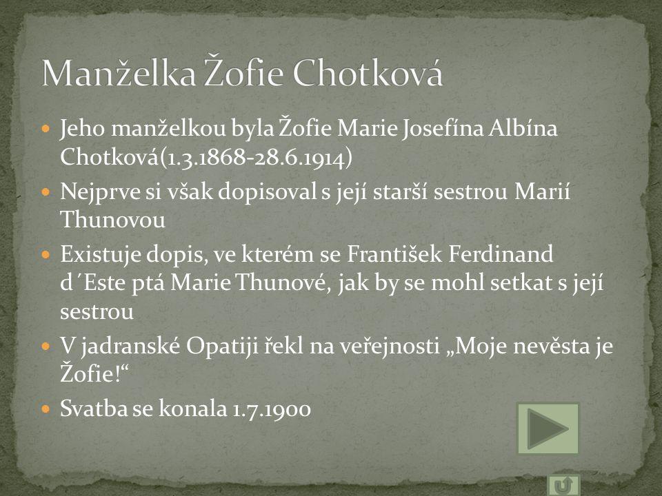 Manželka Žofie Chotková