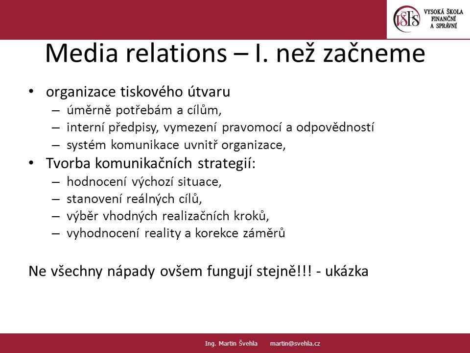 Media relations – I. než začneme
