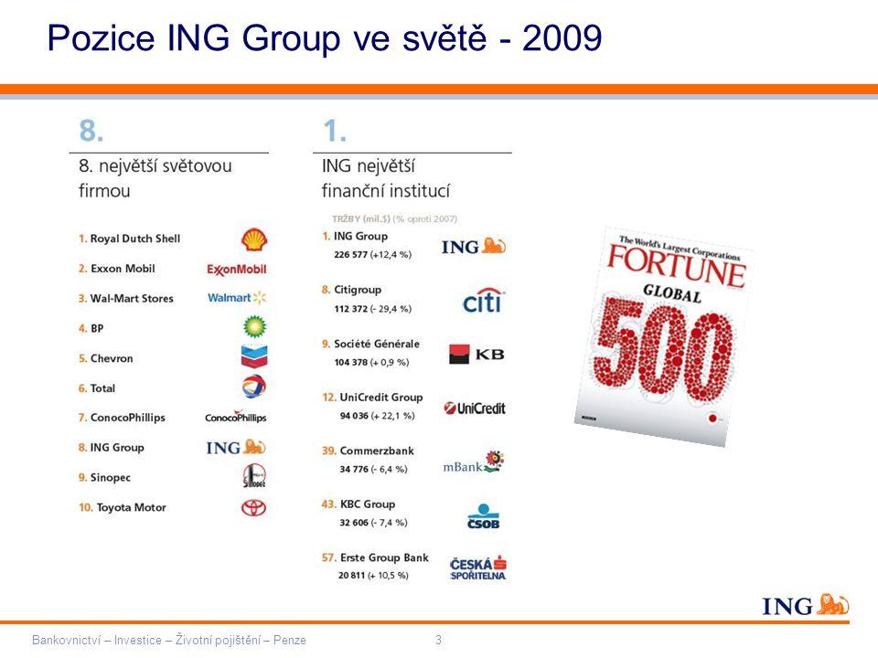 Pozice ING Group ve světě - 2009