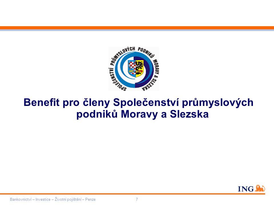 Benefit pro členy Společenství průmyslových podniků Moravy a Slezska