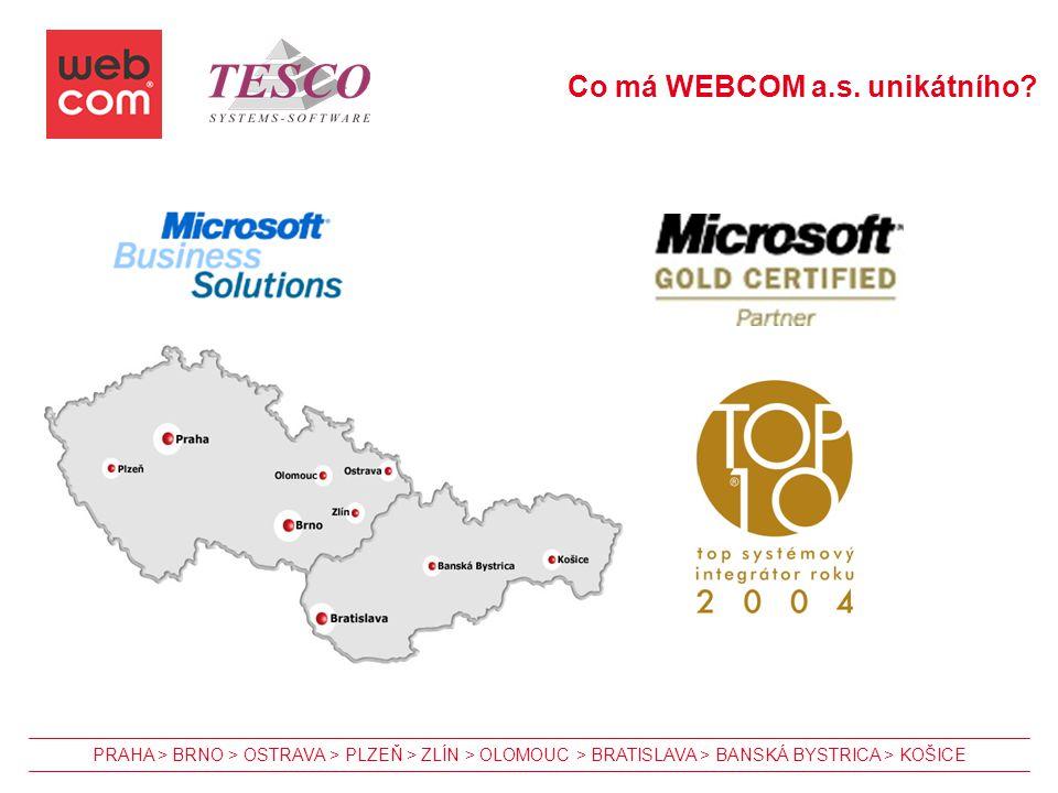 Co má WEBCOM a.s. unikátního