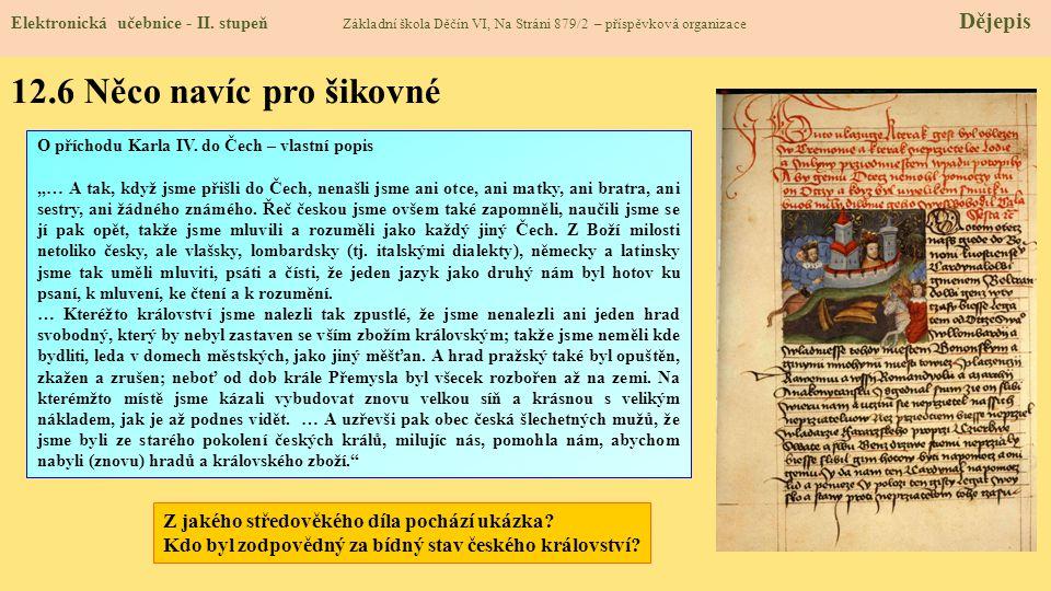 12.6 Něco navíc pro šikovné Z jakého středověkého díla pochází ukázka