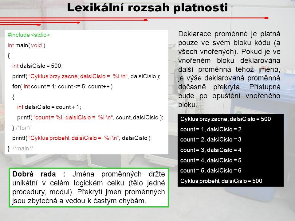 Lexikální rozsah platnosti