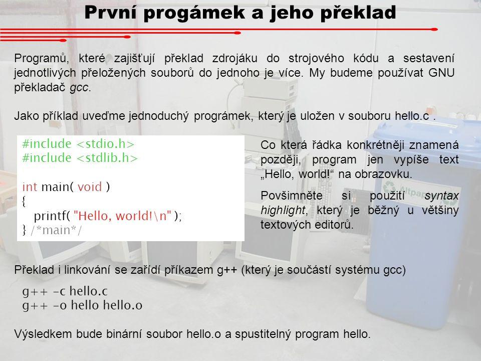 První progámek a jeho překlad