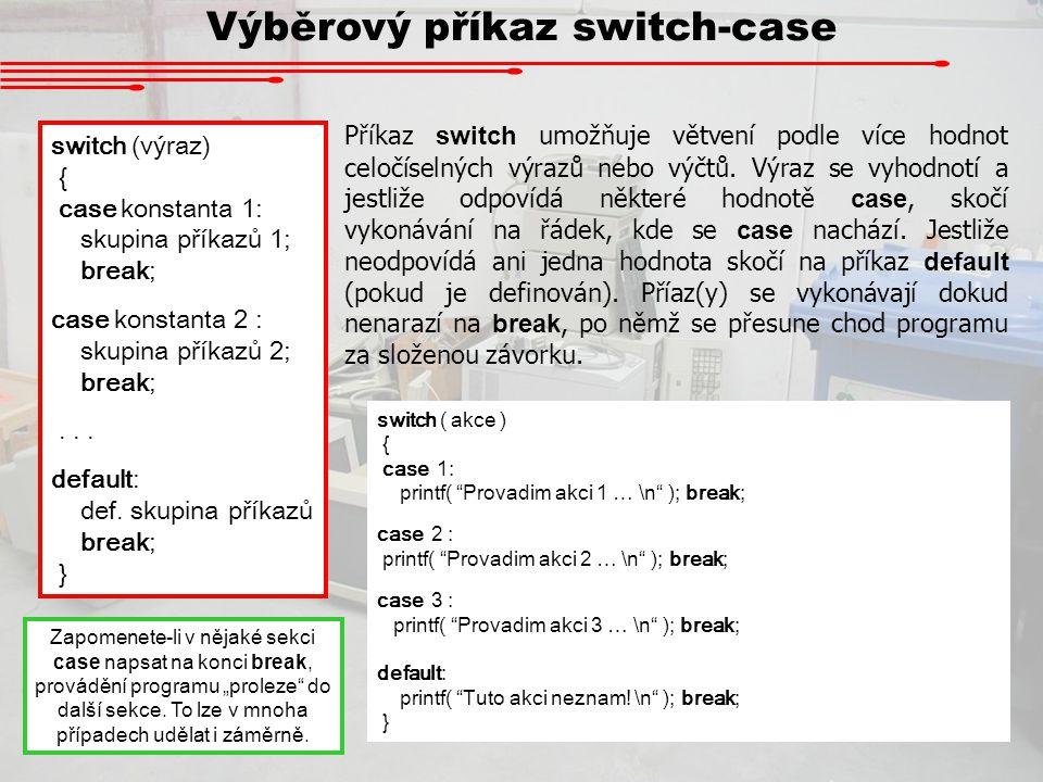 Výběrový příkaz switch-case