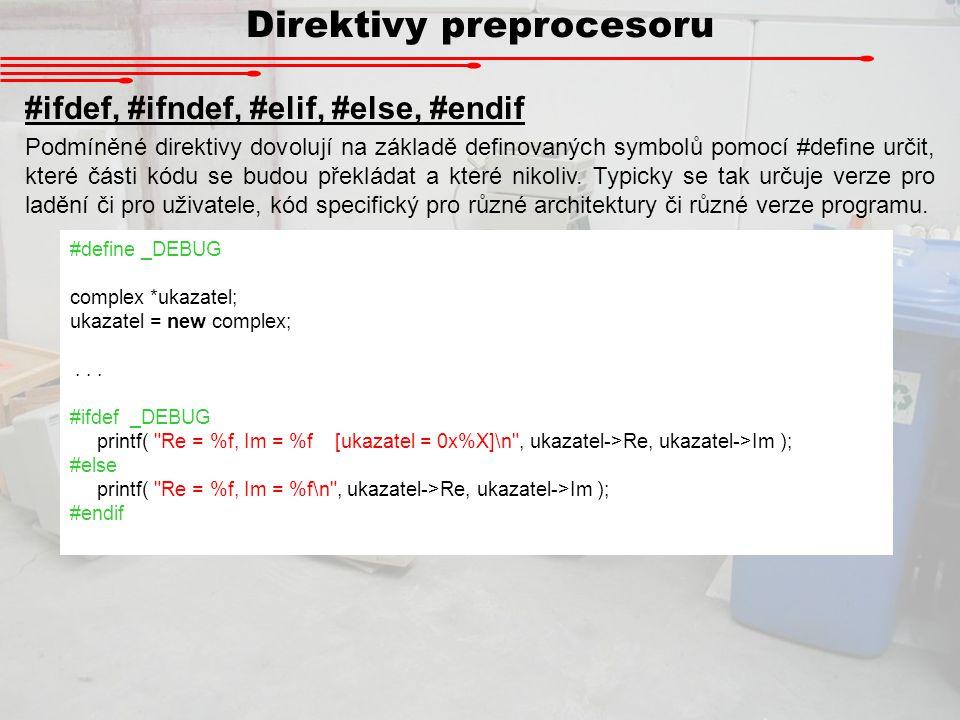 Direktivy preprocesoru