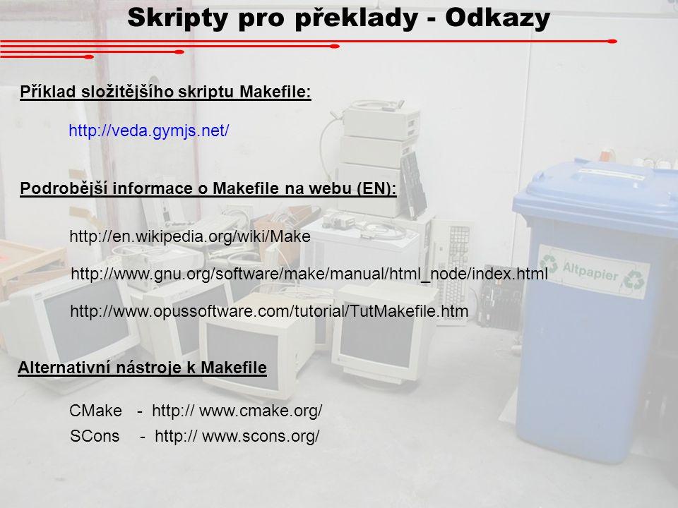 Skripty pro překlady - Odkazy