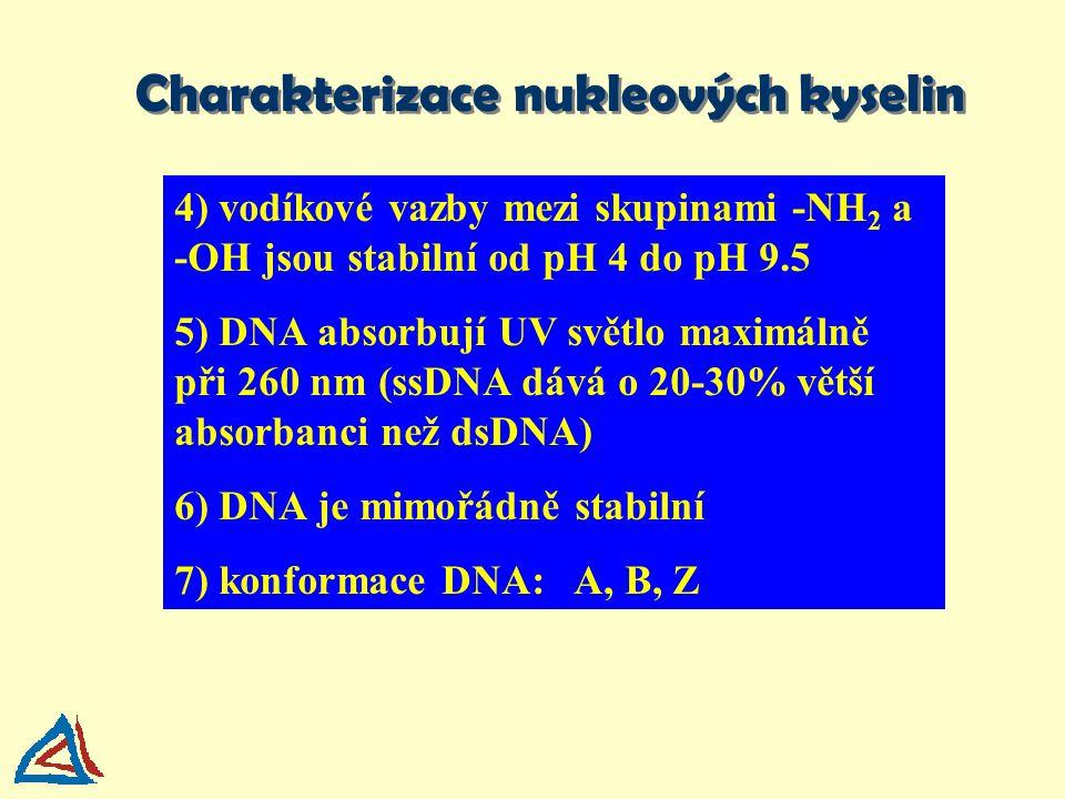 Charakterizace nukleových kyselin