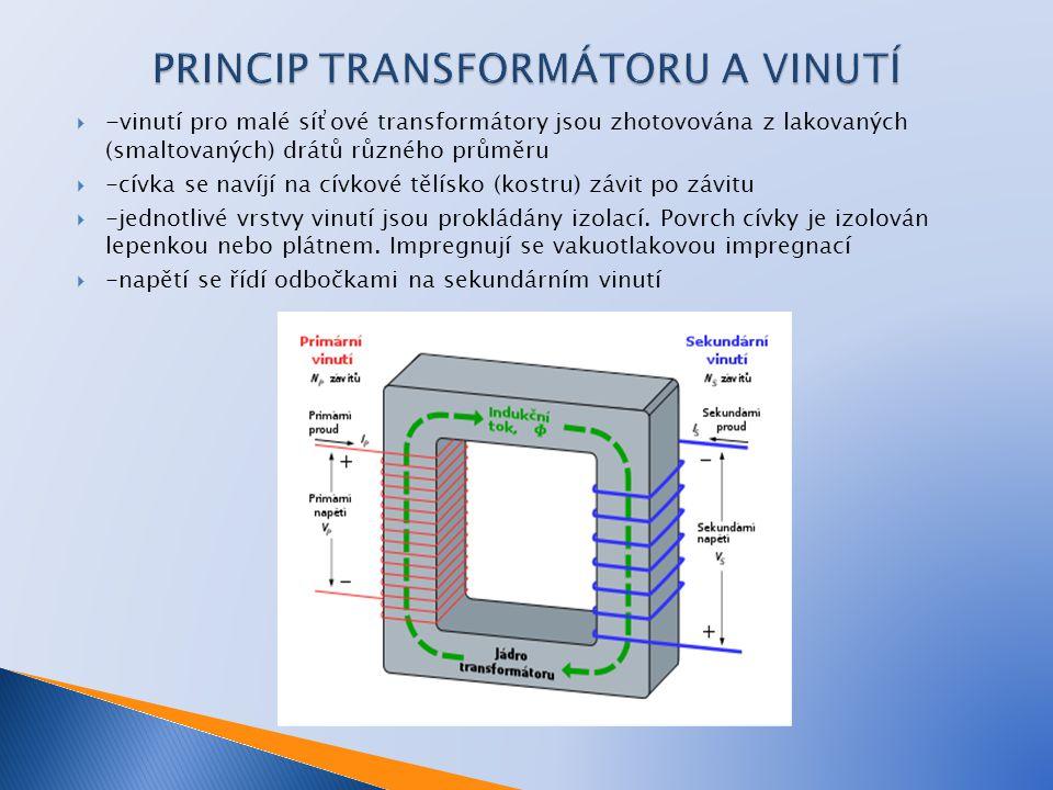 PRINCIP TRANSFORMÁTORU A VINUTÍ