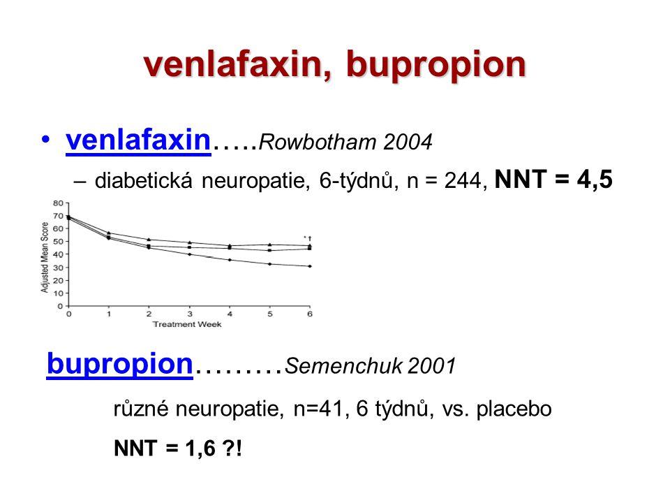 venlafaxin, bupropion venlafaxin…..Rowbotham 2004