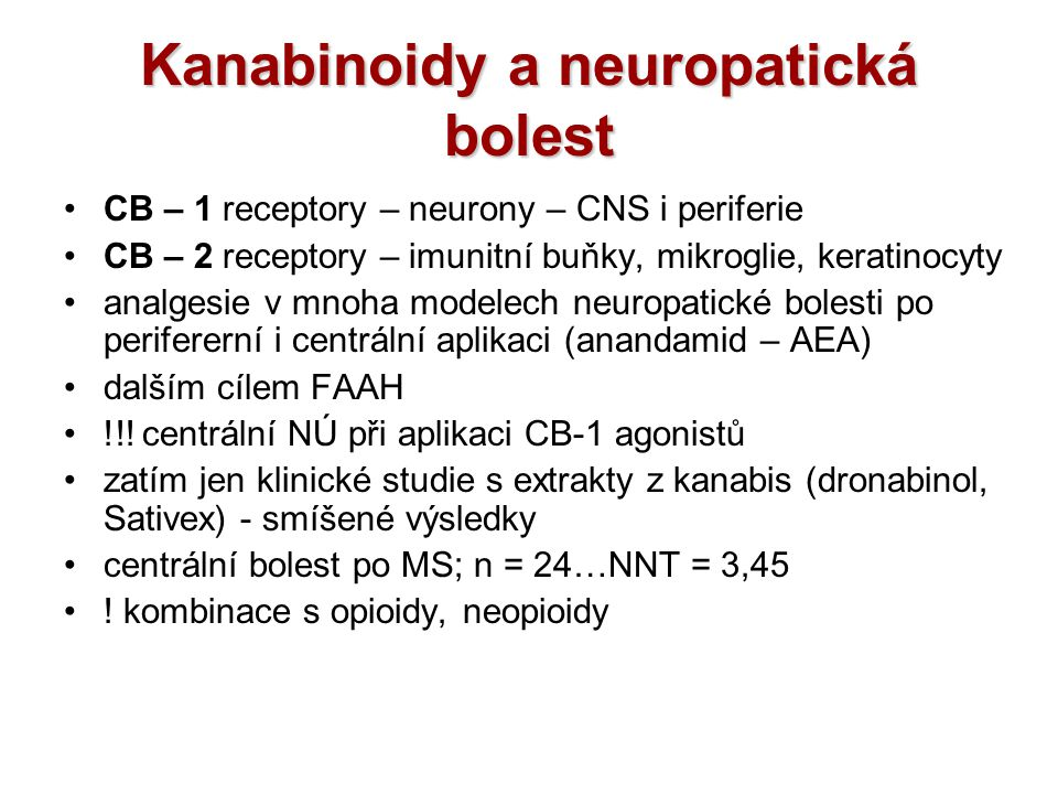 Kanabinoidy a neuropatická bolest