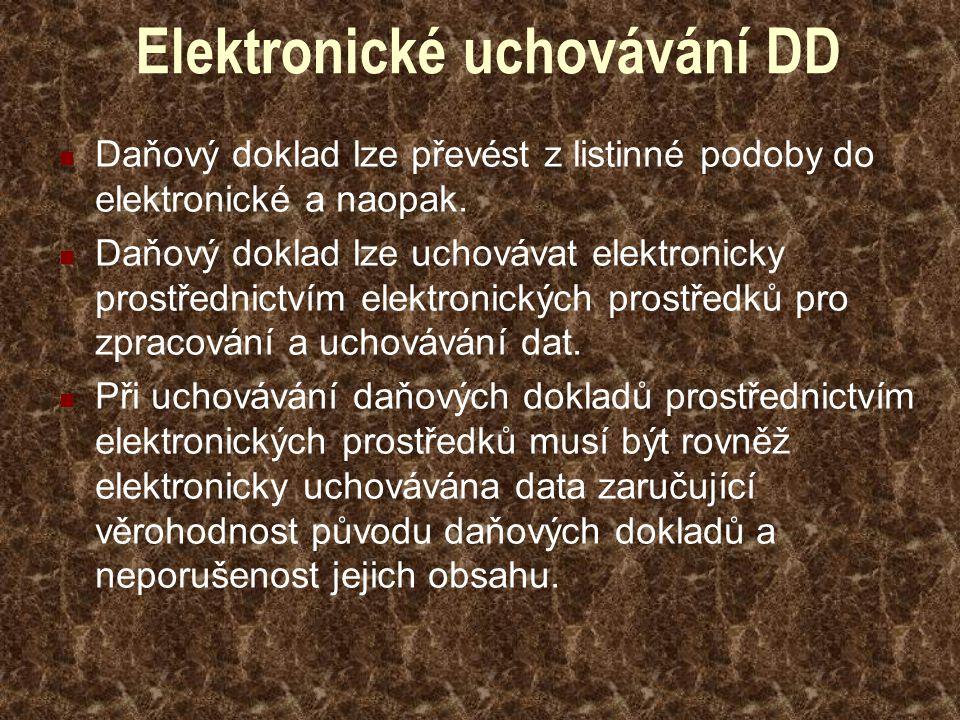 Elektronické uchovávání DD