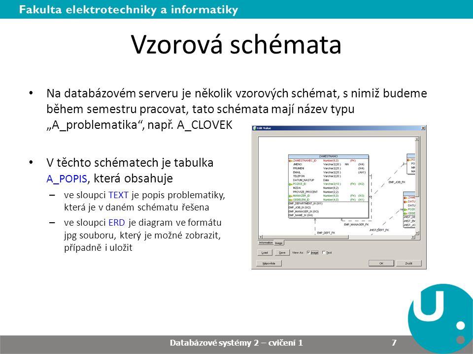 Databázové systémy 2 – cvičení 1