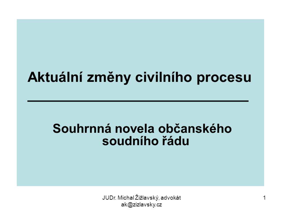 Souhrnná novela občanského soudního řádu