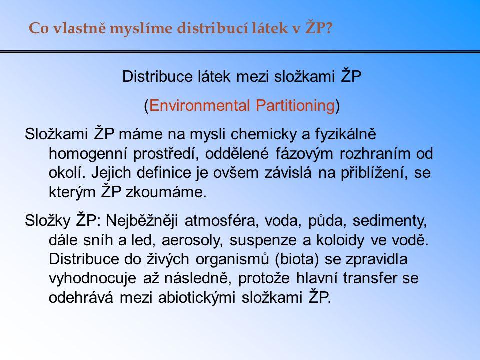 Co vlastně myslíme distribucí látek v ŽP