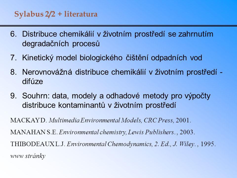 Kinetický model biologického čištění odpadních vod