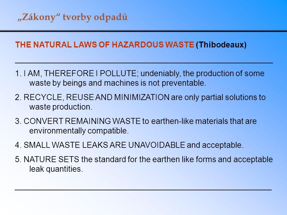 """""""Zákony tvorby odpadů"""