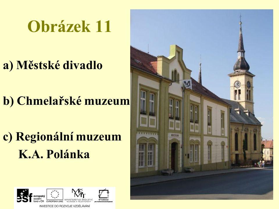 Obrázek 11 a) Městské divadlo b) Chmelařské muzeum