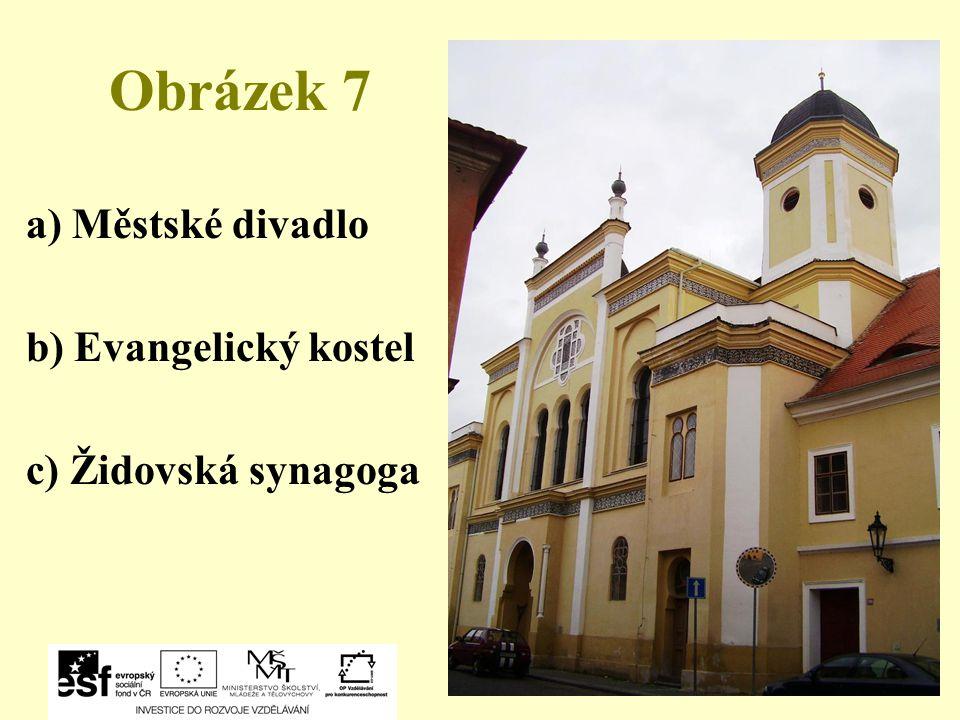 Obrázek 7 a) Městské divadlo b) Evangelický kostel
