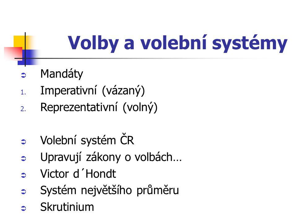 Volby a volební systémy