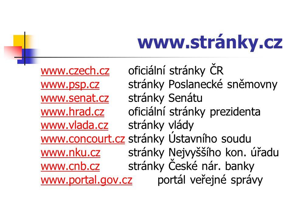 www.stránky.cz www.czech.cz oficiální stránky ČR