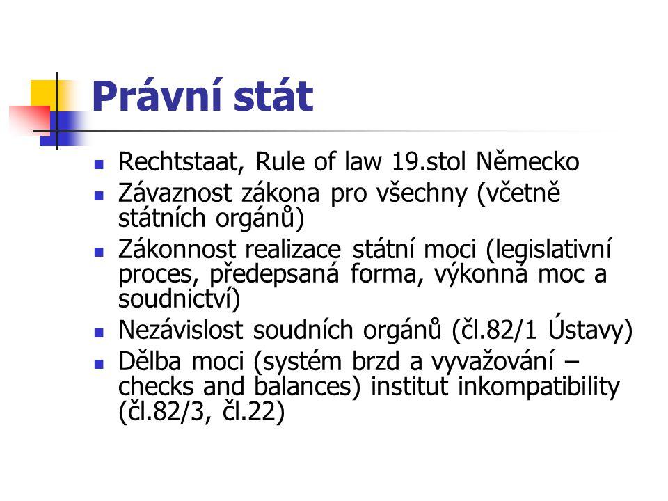 Právní stát Rechtstaat, Rule of law 19.stol Německo