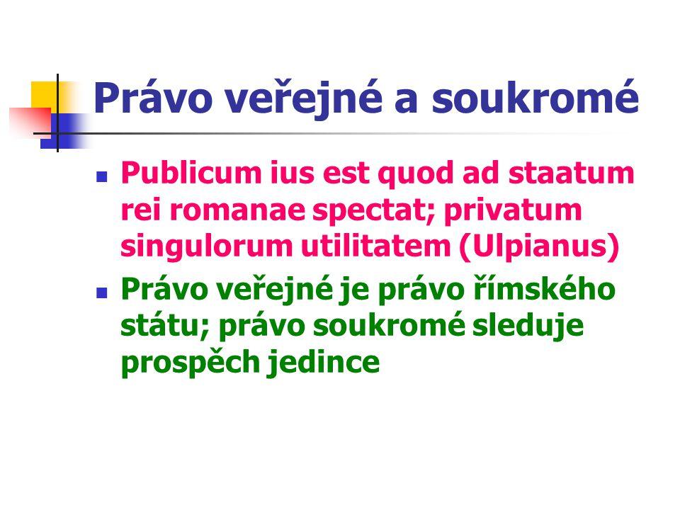 Právo veřejné a soukromé