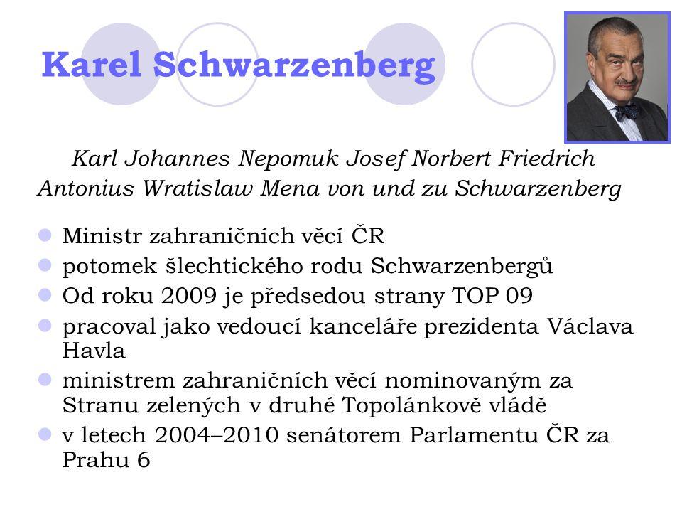 Karel Schwarzenberg Karl Johannes Nepomuk Josef Norbert Friedrich