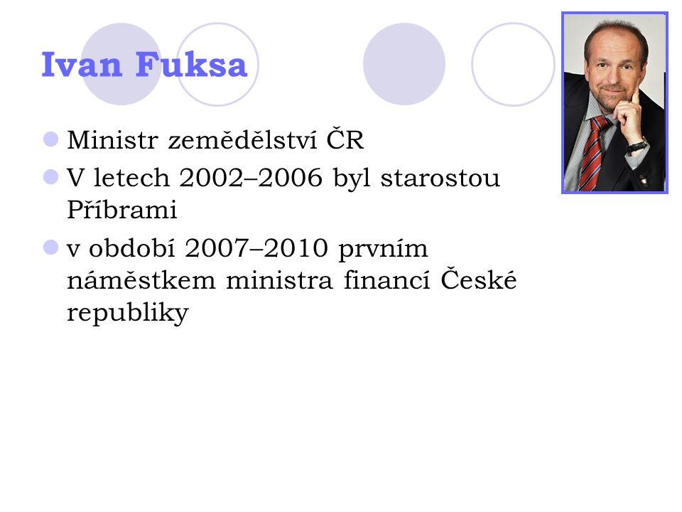 Ivan Fuksa Ministr zemědělství ČR
