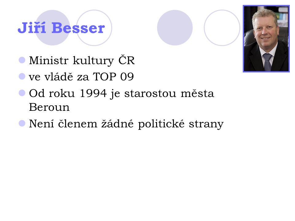 Jiří Besser Ministr kultury ČR ve vládě za TOP 09