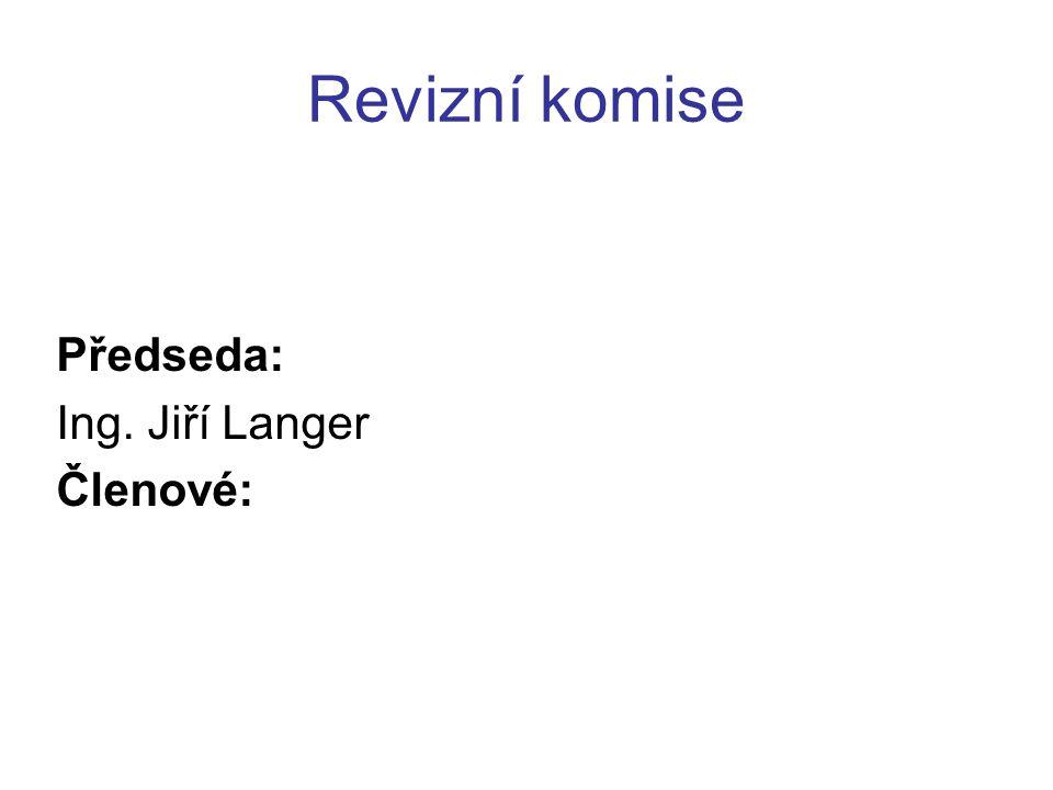 Revizní komise Předseda: Ing. Jiří Langer Členové: