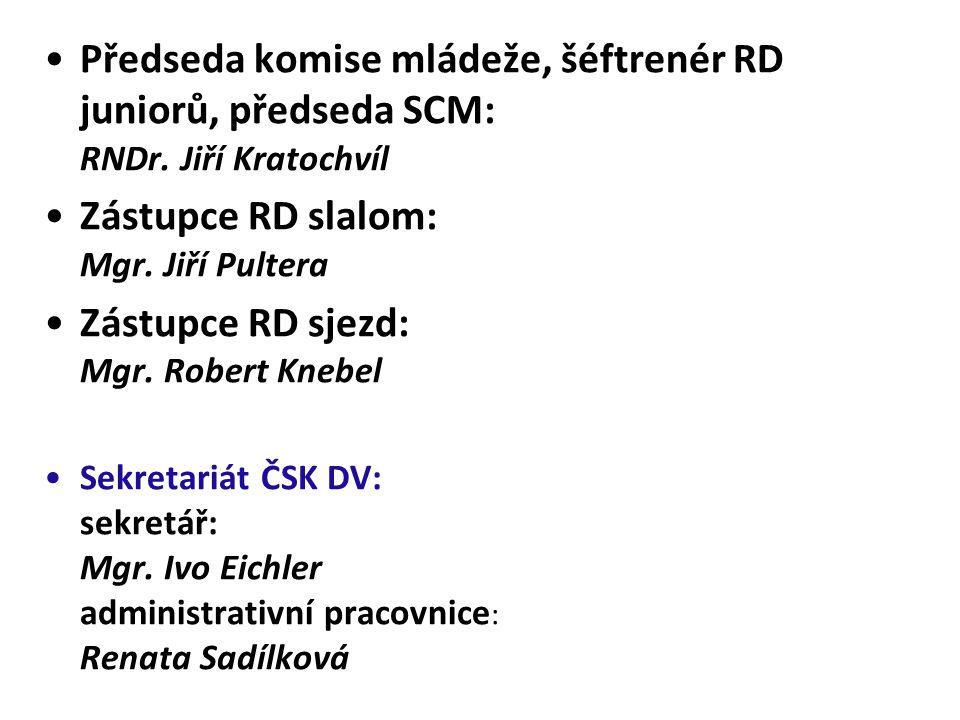 Zástupce RD slalom: Mgr. Jiří Pultera